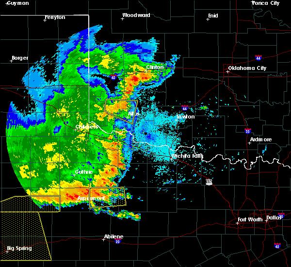 Radar Image for Severe Thunderstorms near Altus, OK at 6/23/2020 1:04 AM CDT