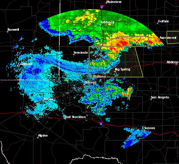 Radar Image for Severe Thunderstorms near Odessa, TX at 6/23/2020 1:23 AM CDT