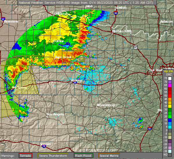 Radar Image for Severe Thunderstorms near Rochester, TX at 6/23/2020 1:31 AM CDT