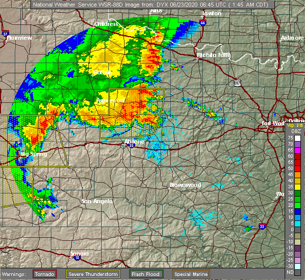 Radar Image for Severe Thunderstorms near Rochester, TX at 6/23/2020 1:48 AM CDT