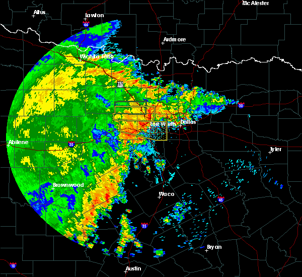Radar Image for Severe Thunderstorms near Fort Worth, TX at 6/23/2020 5:36 AM CDT