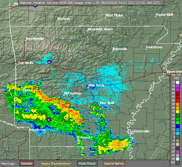 Radar Image for Severe Thunderstorms near Midway, AR at 6/23/2020 11:09 AM CDT