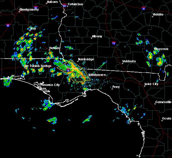 Radar Image for Severe Thunderstorms near Woodville, FL at 6/23/2020 12:32 PM EDT
