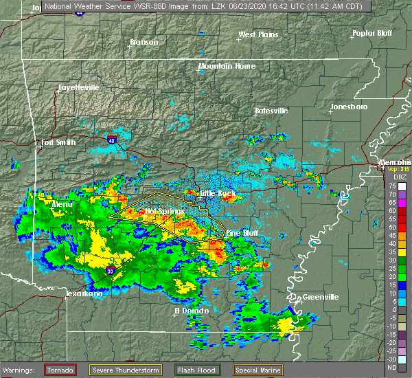 Radar Image for Severe Thunderstorms near Little Rock, AR at 6/23/2020 11:51 AM CDT