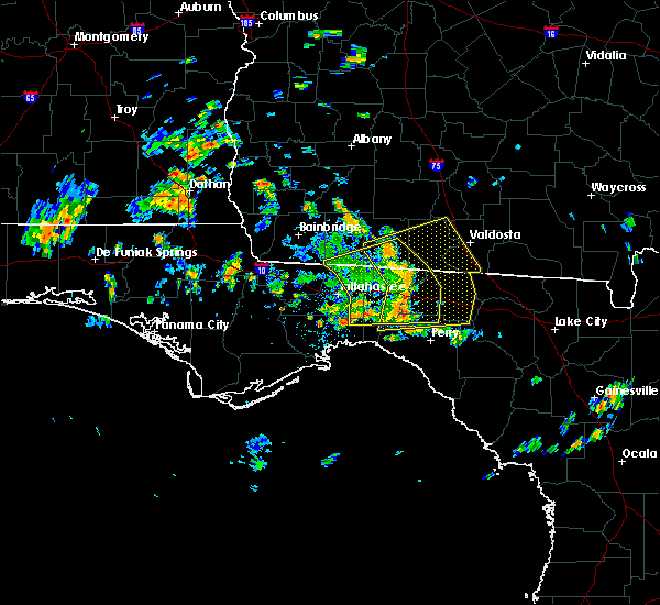 Radar Image for Severe Thunderstorms near Thomasville, GA at 6/23/2020 1:36 PM EDT