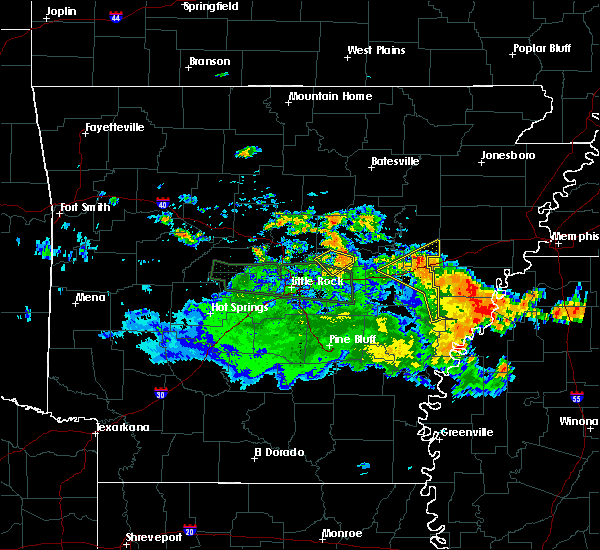 Radar Image for Severe Thunderstorms near Ward, AR at 6/23/2020 1:38 PM CDT