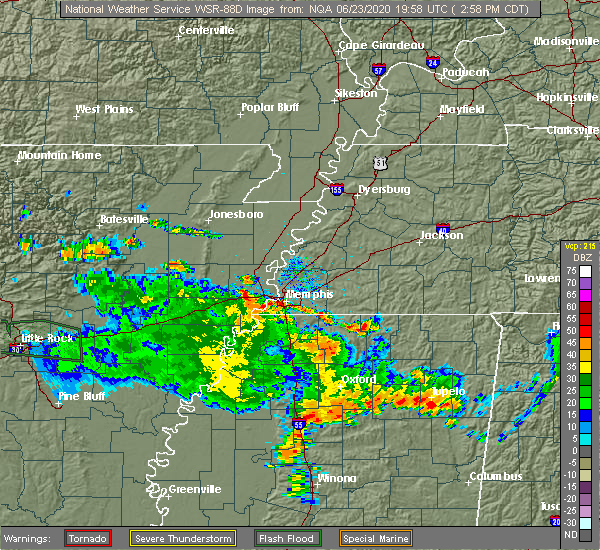 Radar Image for Severe Thunderstorms near Ashland, MS at 6/23/2020 3:04 PM CDT