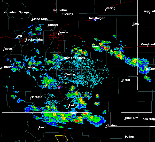 Radar Image for Severe Thunderstorms near Midland, CO at 6/23/2020 3:07 PM MDT