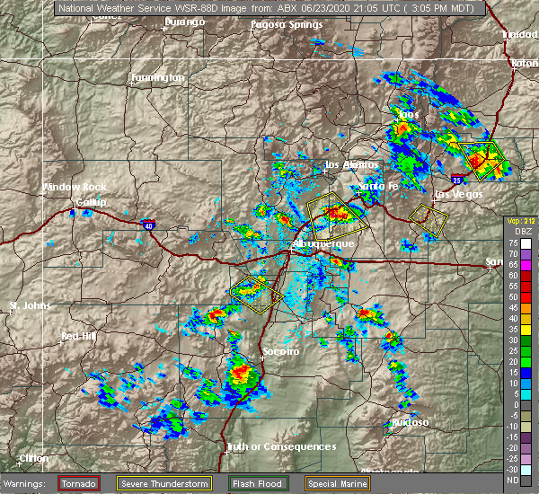 Radar Image for Severe Thunderstorms near Edgewood, NM at 6/23/2020 3:08 PM MDT