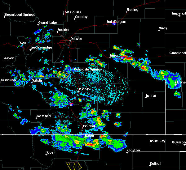 Radar Image for Severe Thunderstorms near Midland, CO at 6/23/2020 3:22 PM MDT