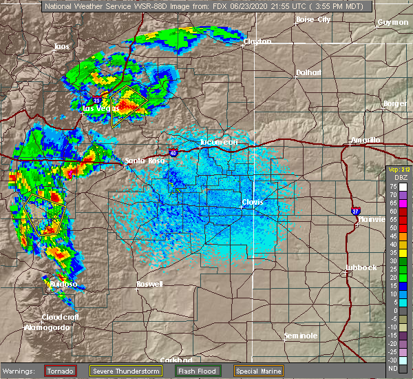 Radar Image for Severe Thunderstorms near Duran, NM at 6/23/2020 4:04 PM MDT