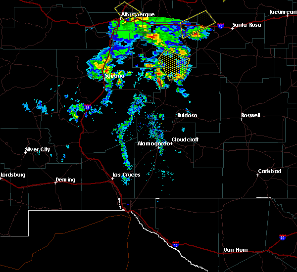 Radar Image for Severe Thunderstorms near Corona, NM at 6/23/2020 4:04 PM MDT