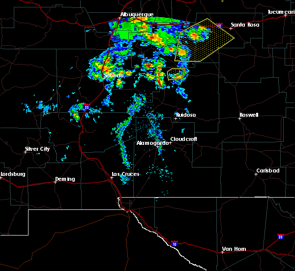 Radar Image for Severe Thunderstorms near Corona, NM at 6/23/2020 4:07 PM MDT
