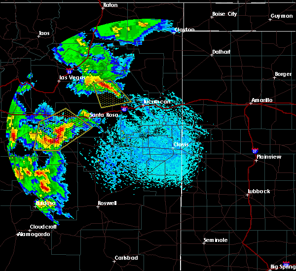 Radar Image for Severe Thunderstorms near Duran, NM at 6/23/2020 4:39 PM MDT