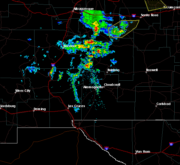 Radar Image for Severe Thunderstorms near Ruidoso Downs, NM at 6/23/2020 4:50 PM MDT