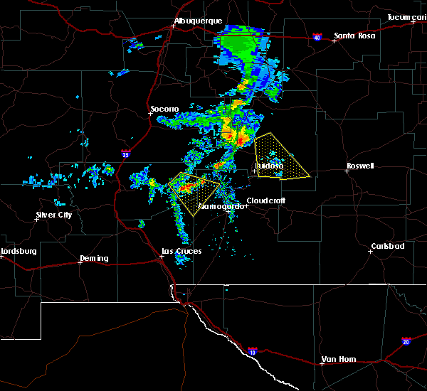 Radar Image for Severe Thunderstorms near Ruidoso Downs, NM at 6/23/2020 5:23 PM MDT