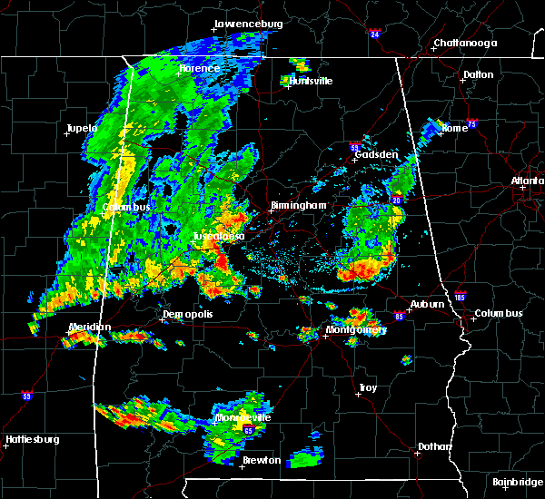 Radar Image for Severe Thunderstorms near West Blocton, AL at 6/23/2020 6:28 PM CDT