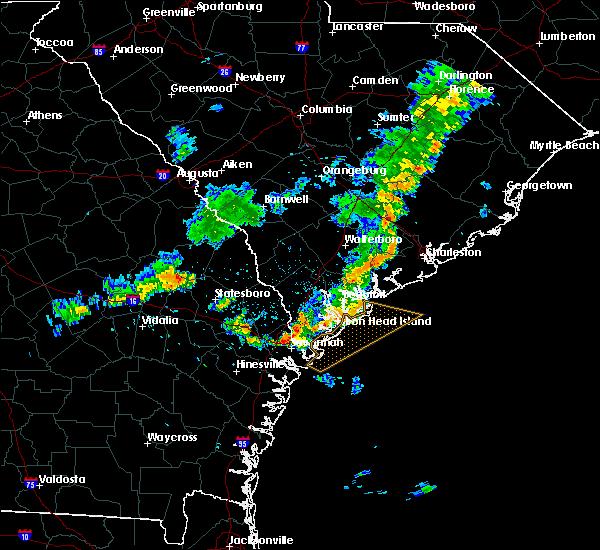 Radar Image for Severe Thunderstorms near Garden City, GA at 6/23/2020 8:11 PM EDT