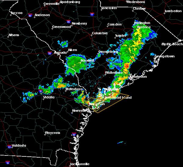 Radar Image for Severe Thunderstorms near Garden City, GA at 6/23/2020 8:35 PM EDT