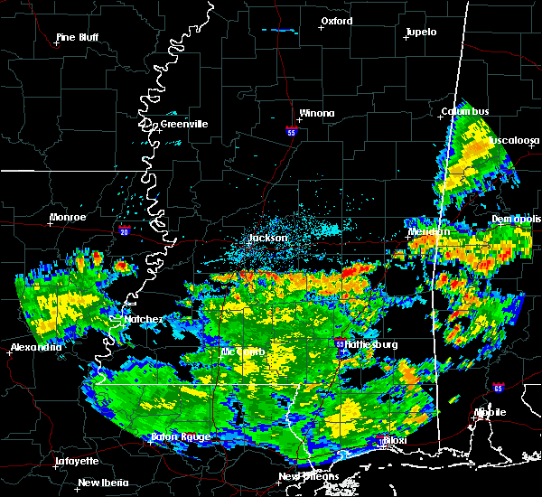 Radar Image for Severe Thunderstorms near Bay Springs, MS at 6/23/2020 7:46 PM CDT