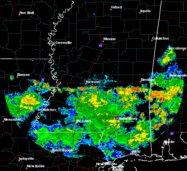 Radar Image for Severe Thunderstorms near Bay Springs, MS at 6/23/2020 8:23 PM CDT