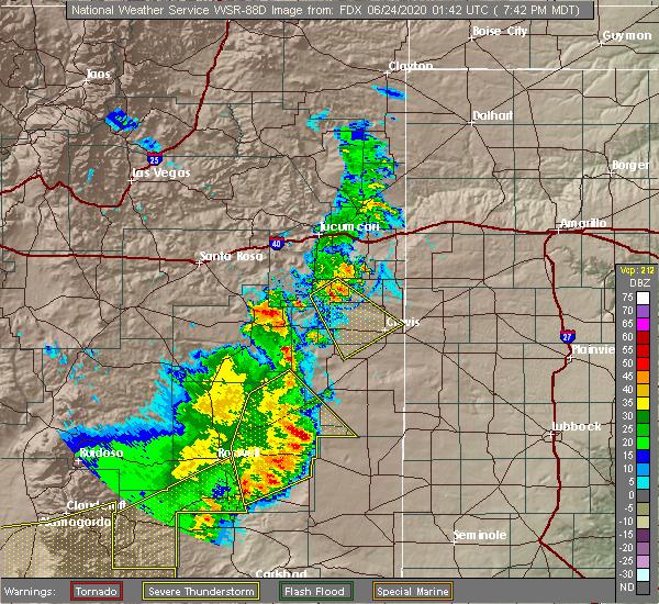 Radar Image for Severe Thunderstorms near Hobbs, NM at 6/23/2020 7:47 PM MDT