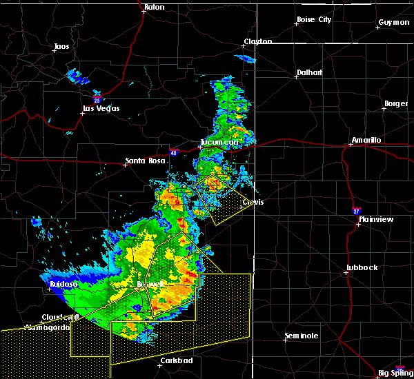 Radar Image for Severe Thunderstorms near Floyd, NM at 6/23/2020 7:54 PM MDT