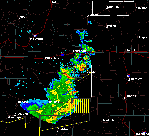 Radar Image for Severe Thunderstorms near Texico, NM at 6/23/2020 8:15 PM MDT
