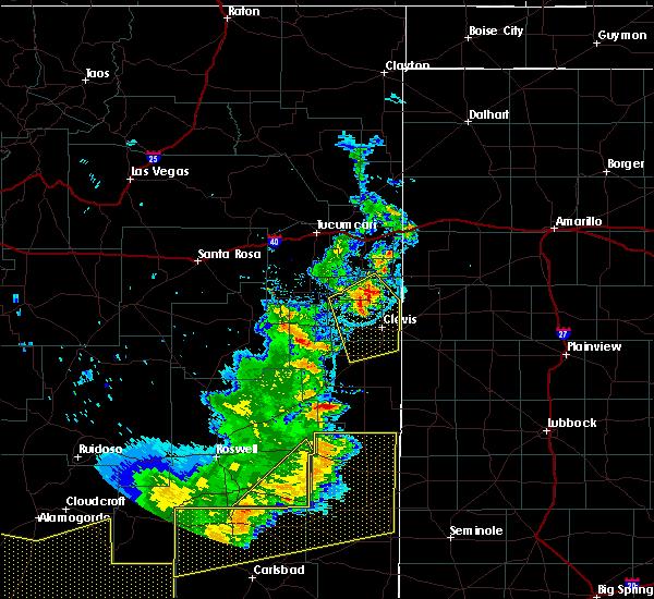 Radar Image for Severe Thunderstorms near Hobbs, NM at 6/23/2020 8:20 PM MDT