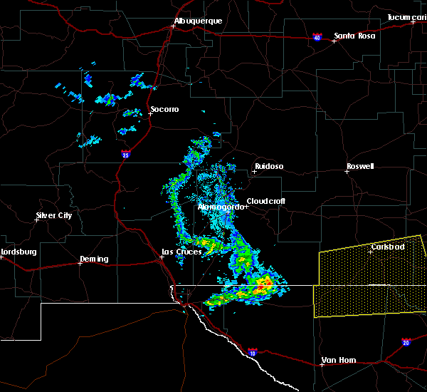 Radar Image for Severe Thunderstorms near Happy Valley, NM at 6/23/2020 9:03 PM MDT
