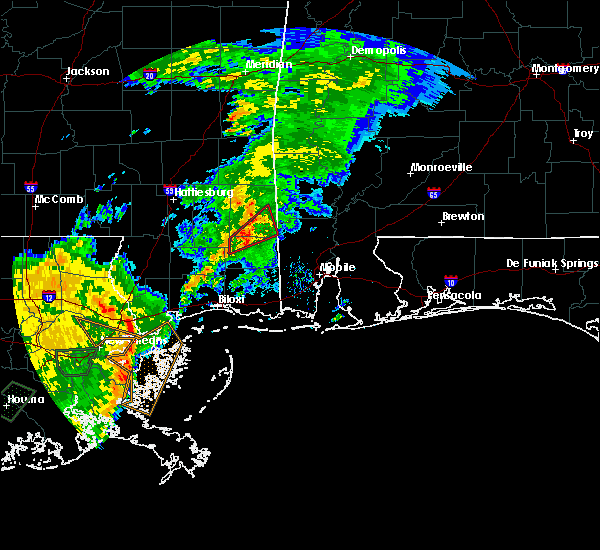 Radar Image for Severe Thunderstorms near Leakesville, MS at 6/24/2020 11:38 AM CDT