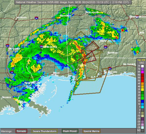 Radar Image for Severe Thunderstorms near Fruitdale, AL at 6/24/2020 2:26 PM CDT