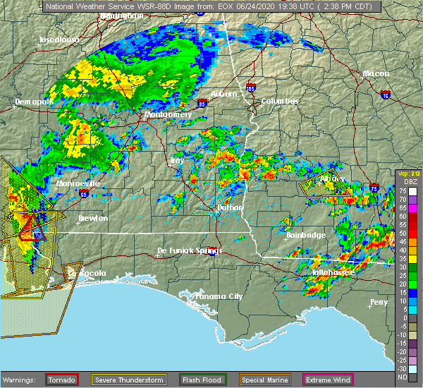 Radar Image for Severe Thunderstorms near Richland, GA at 6/24/2020 3:44 PM EDT
