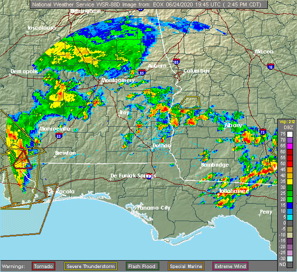 Radar Image for Severe Thunderstorms near Richland, GA at 6/24/2020 3:54 PM EDT