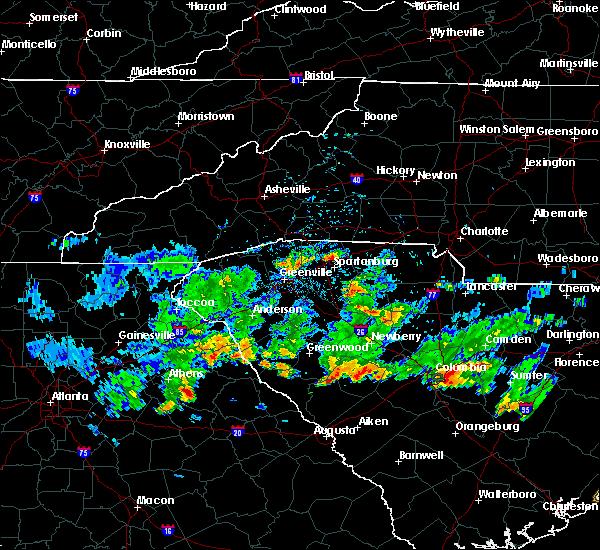 Radar Image for Severe Thunderstorms near Washington, GA at 6/24/2020 4:23 PM EDT