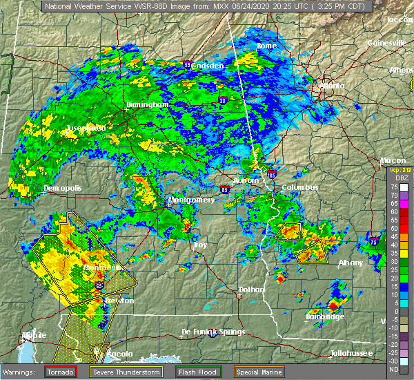 Radar Image for Severe Thunderstorms near Pine Apple, AL at 6/24/2020 3:29 PM CDT