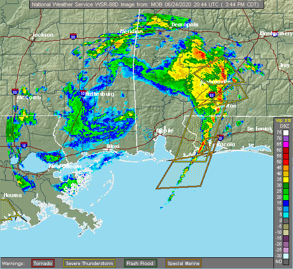 Radar Image for Severe Thunderstorms near Midway, FL at 6/24/2020 3:49 PM CDT