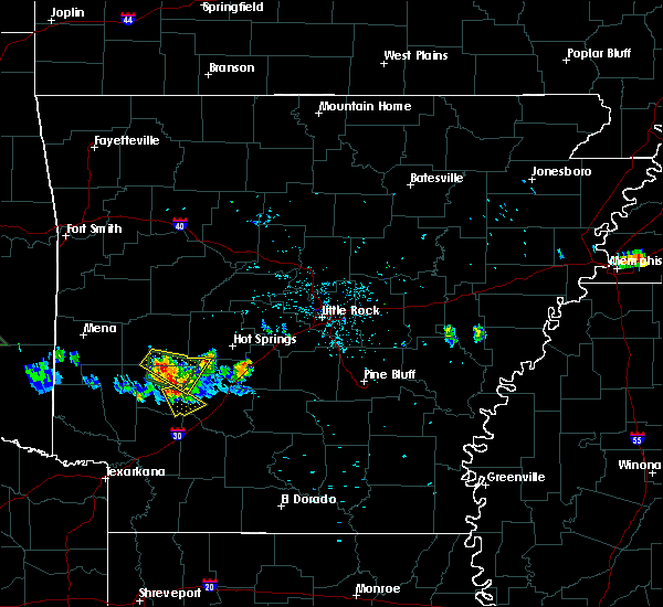 Radar Image for Severe Thunderstorms near Okolona, AR at 6/29/2015 8:32 PM CDT