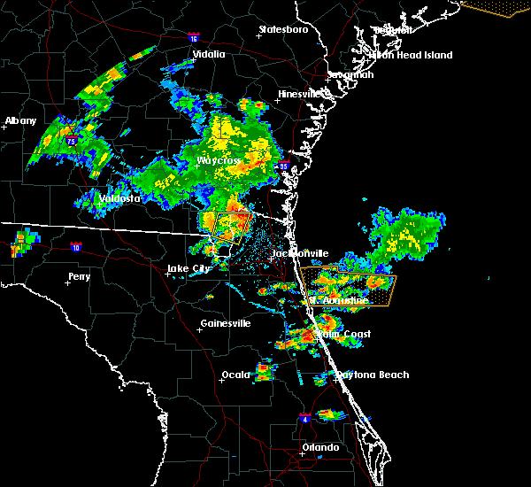 Radar Image for Severe Thunderstorms near Jacksonville, FL at 6/24/2020 6:18 PM EDT