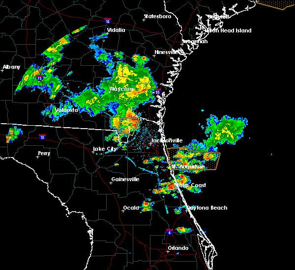 Radar Image for Severe Thunderstorms near Nassau Village-Ratliff, FL at 6/24/2020 6:18 PM EDT