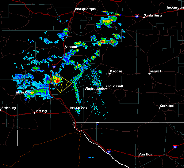 Radar Image for Severe Thunderstorms near Corona, NM at 6/24/2020 4:25 PM MDT