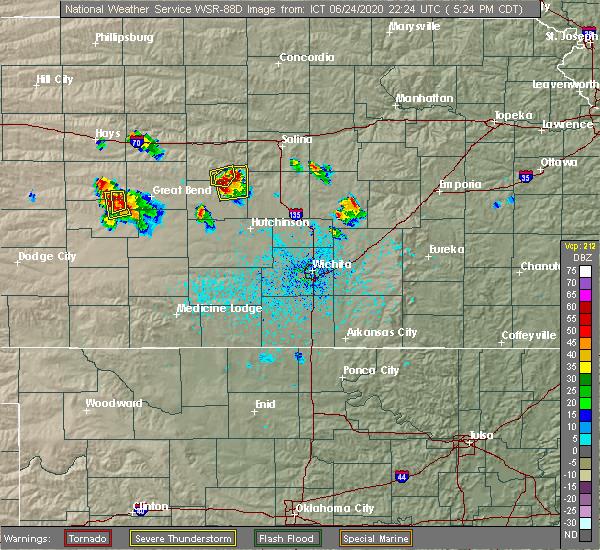 Radar Image for Severe Thunderstorms near Little River, KS at 6/24/2020 5:26 PM CDT