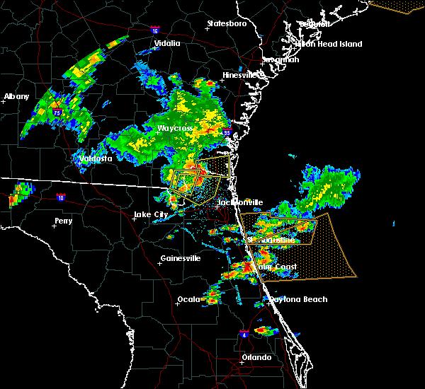 Radar Image for Severe Thunderstorms near Kingsland, GA at 6/24/2020 6:29 PM EDT