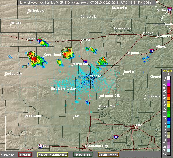 Radar Image for Severe Thunderstorms near Little River, KS at 6/24/2020 5:37 PM CDT