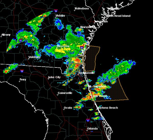 Radar Image for Severe Thunderstorms near Kingsland, GA at 6/24/2020 6:45 PM EDT