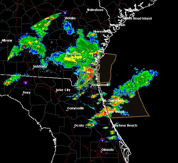 Radar Image for Severe Thunderstorms near Jacksonville, FL at 6/24/2020 6:48 PM EDT