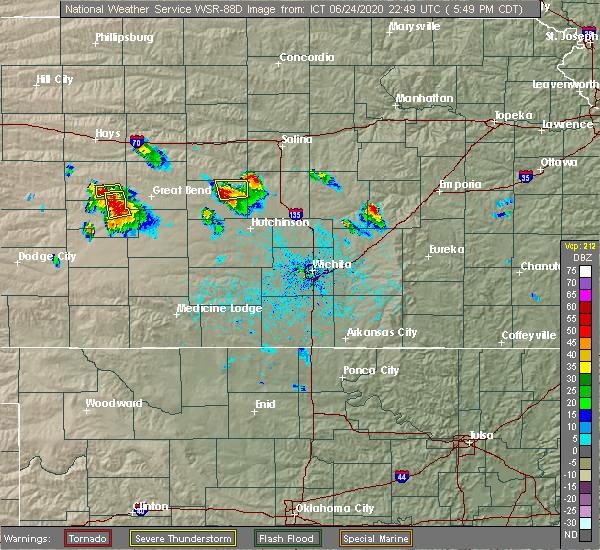 Radar Image for Severe Thunderstorms near Little River, KS at 6/24/2020 5:53 PM CDT