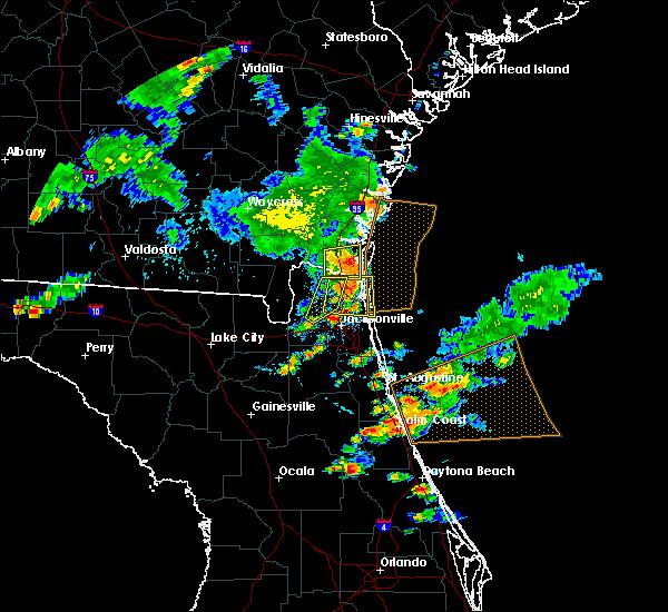 Radar Image for Severe Thunderstorms near Kingsland, GA at 6/24/2020 6:54 PM EDT
