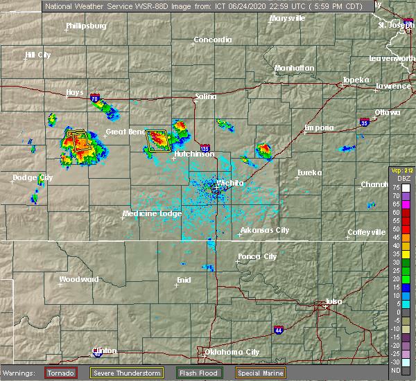 Radar Image for Severe Thunderstorms near Little River, KS at 6/24/2020 6:06 PM CDT