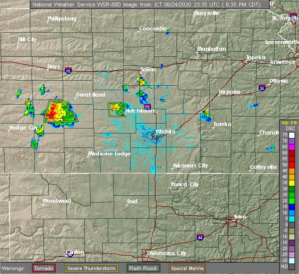 Radar Image for Severe Thunderstorms near Willowbrook, KS at 6/24/2020 6:40 PM CDT